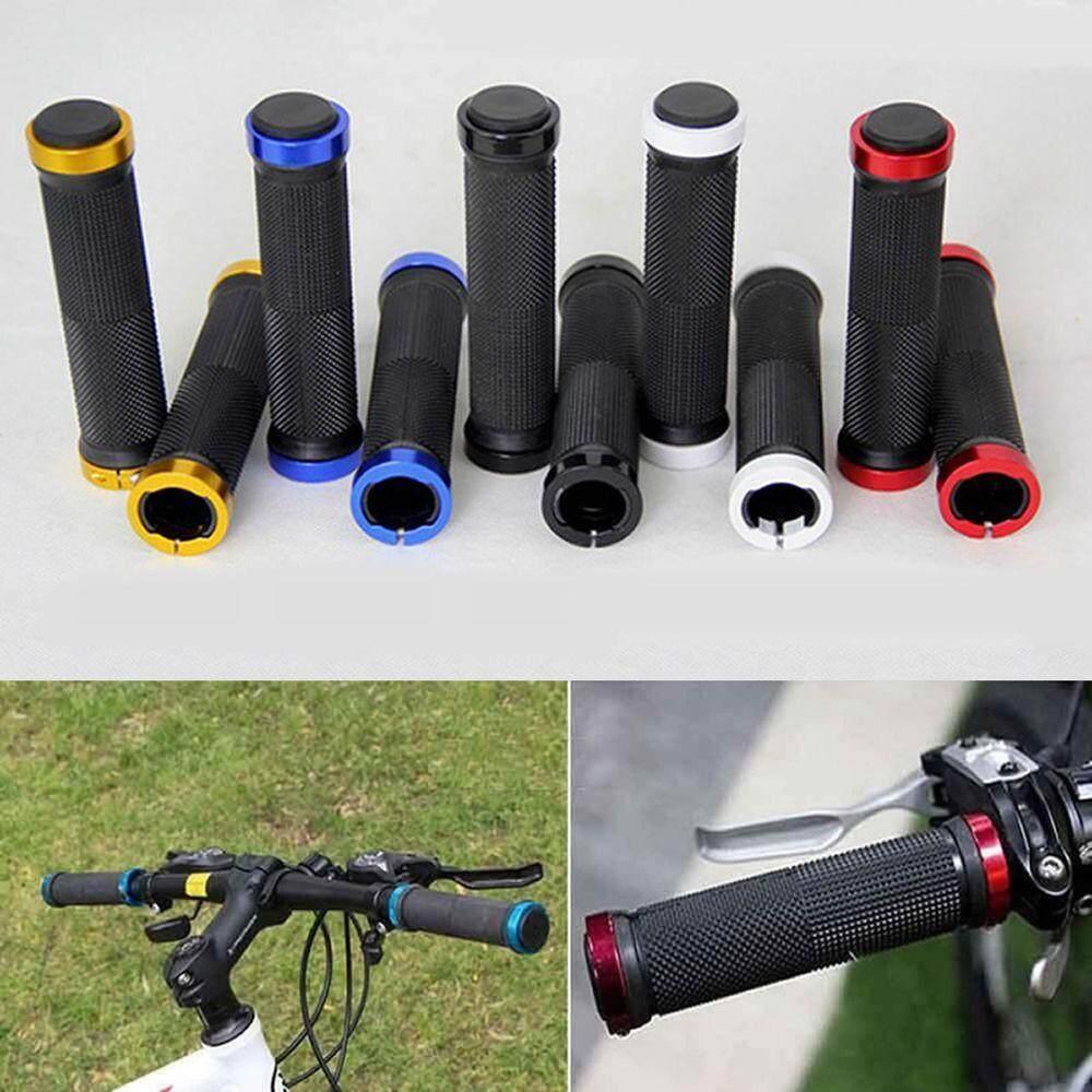 Pair Double Lock On Locking Handlebar Grips Cycle Bicycle MTB Mountain Bike BMX