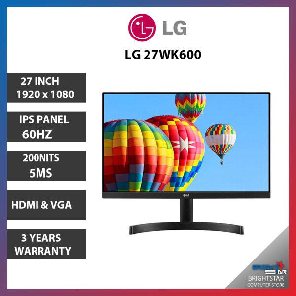Monitor Pc LG 27MK600M ( 27 / 1920 x 1080  / IPS / 5MS / 200 NITS / HDMI & VGA / 3 Years Warranty ) Malaysia
