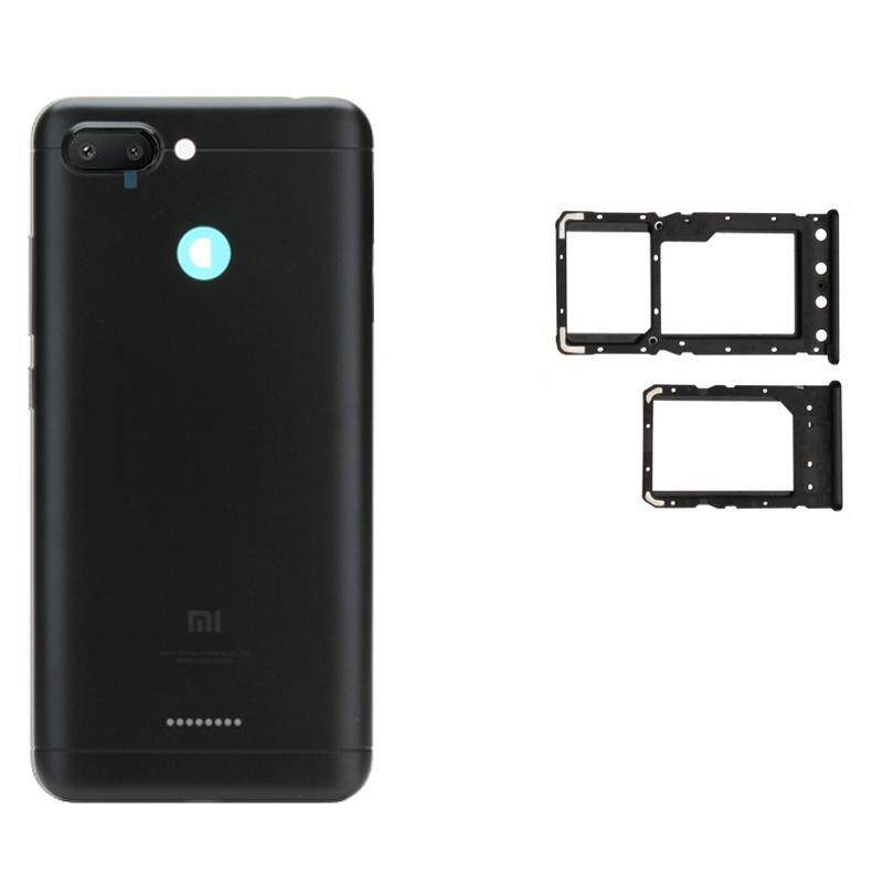 For Xiaomi Redmi 6 Back Cover Housing Door With Camera Len + Side Button+ Dual Sim