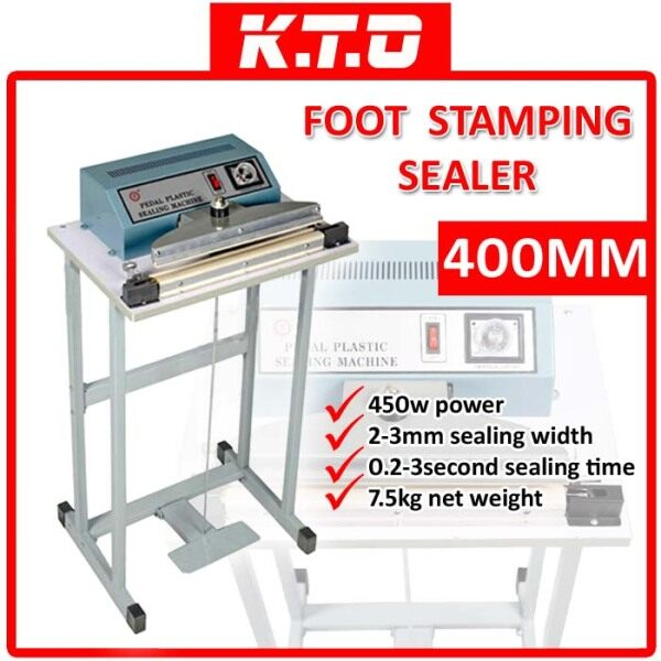 400MM PEDAL STEP FOOT STAMPING SEALER IMPULSE QUICK SEALING PACKING MACHINE - FRE-400