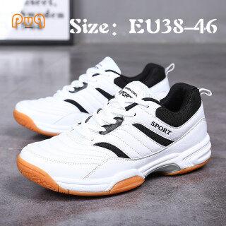 Giày Cầu Lông Tennis PUQ Chất Lượng Cao EU38-46 Cỡ Lớn Giày Bóng Bàn 45 Giày Tennis Giày Nam Chính Hãng Giày Thể Thao Màu Trắng Tập Luyện Chống Mài Mòn Chống Trượt Hấp Thụ Sốc Mùa Hè Mới thumbnail