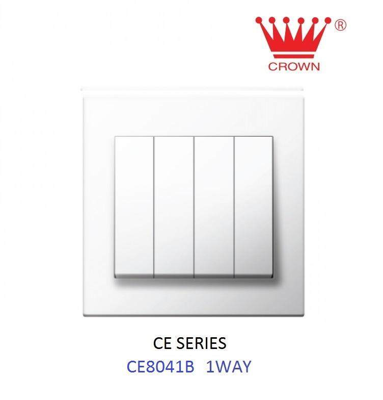 CROWN CE 4 Gang 1 Way Flush Switch CE8041B