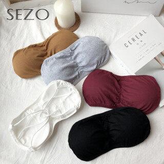 Áo Ngực Nữ SEZO, Đồ Lót Quấn Áo Ngực Màu Trơn Phong Cách Hàn Quốc thumbnail