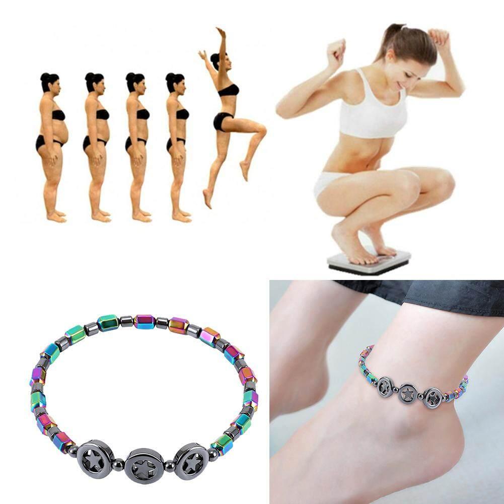 Vòng chân nam châm cho phụ nữ, chống Mệt Mỏi Từ Trị Liệu , dây cầu vồng đính hình ngôi sao - INTL