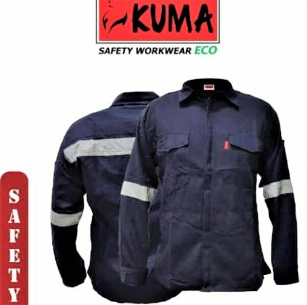Slim Fit ECO Safety Jacket WORKWEAR Baju Kerja Keselamatan