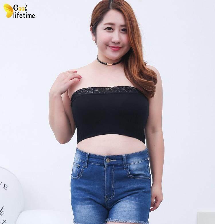 4f1366b9093 GLT Fashion Women Tube Top Underwear Strapless Bandeau Crop Bra Intimates  Clothes Plus Size
