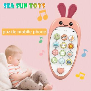 SEA&SUN Baby Điện Thoại Di Động Đồ Chơi Để Học Và Chơi Điện Thoại Giáo Dục Sớm Có Vỏ Silicon Đèn Âm Nhạc Cho Trẻ Em 0-1 Tuổi Có Dây Buộc Và 2 Pin AAA thumbnail