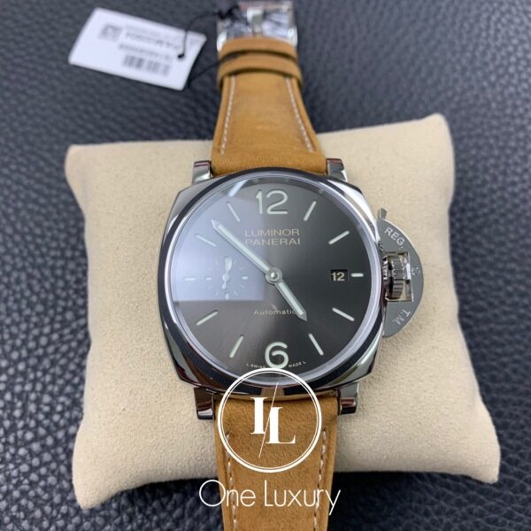 Origin LUMIN0R DUE 3 DAYS 42MM GREY DIAL ON BROWN LEATHER STRAP Malaysia