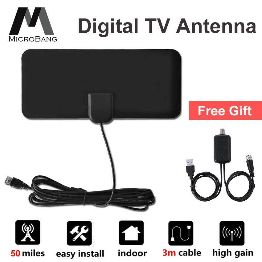 Antenna TV Digital HD 50 Mile Range HDTV TV Indoor 1080P 4K Coax Cable