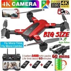 Máy Bay Không Người Lái Điều Khiển Từ Xa Lozenge, Drone HJ68 Pro Nâng Cấp Mới Nhất Với Camera Góc Rộng 720P/1080P/4K HD FPV 120 ° + Định Vị Luồng Quang + Dấu Hiệu V + Video Cử Chỉ + Real-truyền Thời Gian + Bay Dài Hạn + Cảm Biến Trọng Lực