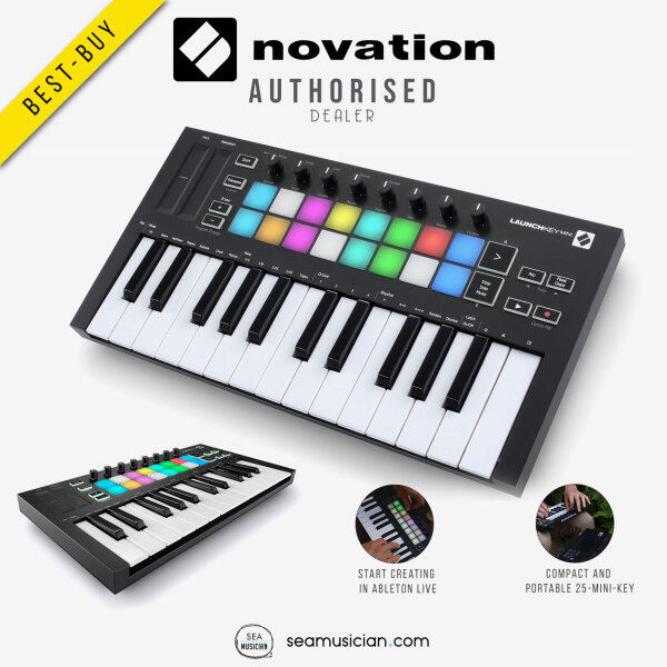 NOVATION LAUNCHKEY MINI MK3 KEYBOARD CONTROLLER ( 25-KEY MIDI CONTROLLER/ MUSIC RECORDING/ SEAMUSICIAN) Malaysia