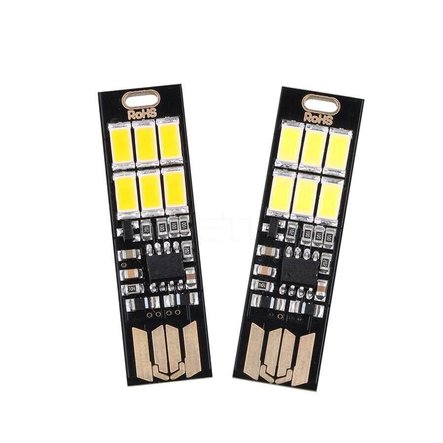RD 6-LEDs Đèn Ngủ USB Công Suất 1 W 5 V Cảm Ứng Đèn Mờ Ánh Sáng Trắng Ấm