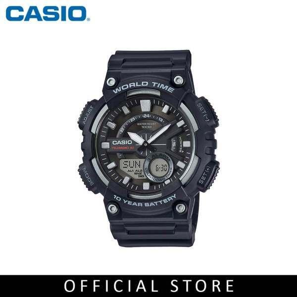 Casio General AEQ-110W-1A Black Resin Band Men Youth Watch Malaysia