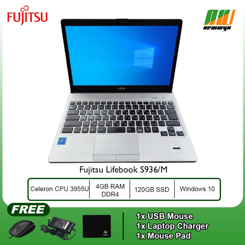 (Refurbished Notebook) Fujitsu Lifebook S936/M - Intel Celeron CPU 3955U @ 2.00GHz / 4GB RAM DDR4 / 120GB SSD / WIN 10 Malaysia