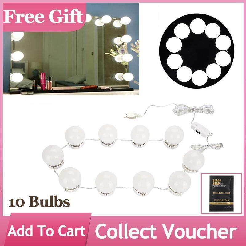 Led Bulbs Mirror Light Makeup Vanity Mirror Lights Lamp Kit Lens Headlight Make Up Tool 3 Eye Shadow Applicator