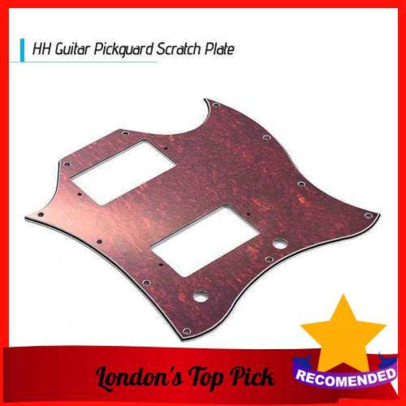 [ London ] PVC HH Guitar Pickguard Scratch Plate for SG Electric Guitars Red Tortoise Shell (Red) Malaysia