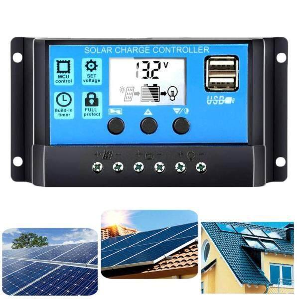 30A 12 V/24 V Điều hòa Năng Lượng Mặt Trời Máy Phát Điện cho Gia Đình Bảng Điều Khiển Năng Lượng Mặt Trời Pin Thông Minh Điều Chỉnh với Cổng USB đèn nền Hiển Thị