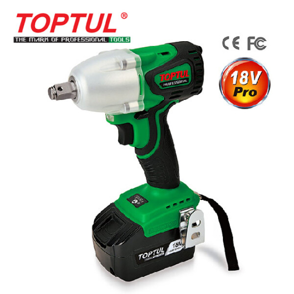 TOPTUL 1/2 DR. Brushless Cordless Impact Wrench-Pro Series (KPA-1639E)