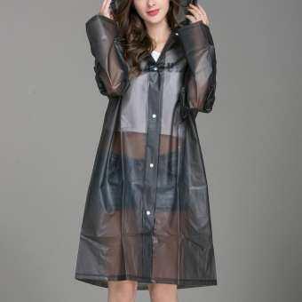 GUO ผู้หญิงเสื้อแจ็คเก็ตกันฝนโปร่งใสกันน้ำเสื้อโค้ทกันลม Outwear-