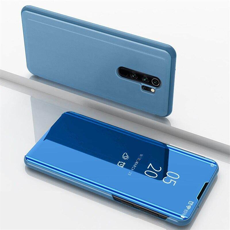 For OPPO Reno 2Z Reno 2F Luxury Smart Plating Mirror View Stand Flip Case  for OPPO K5 Realme XT Realme X2 Full Cover Phone Bag