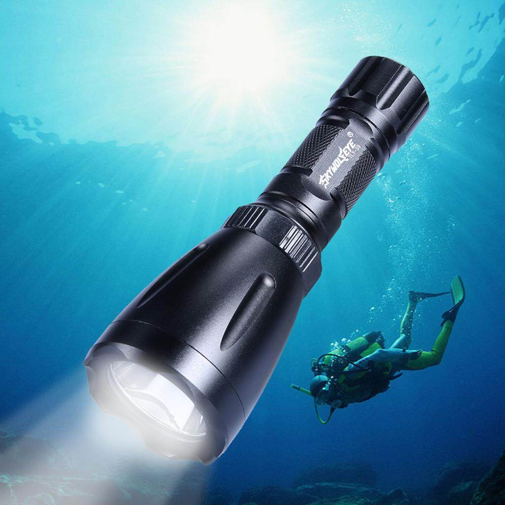 Q5 LED Scuba Diving Flashlight Underwater 80M Torch 18650 Waterproof