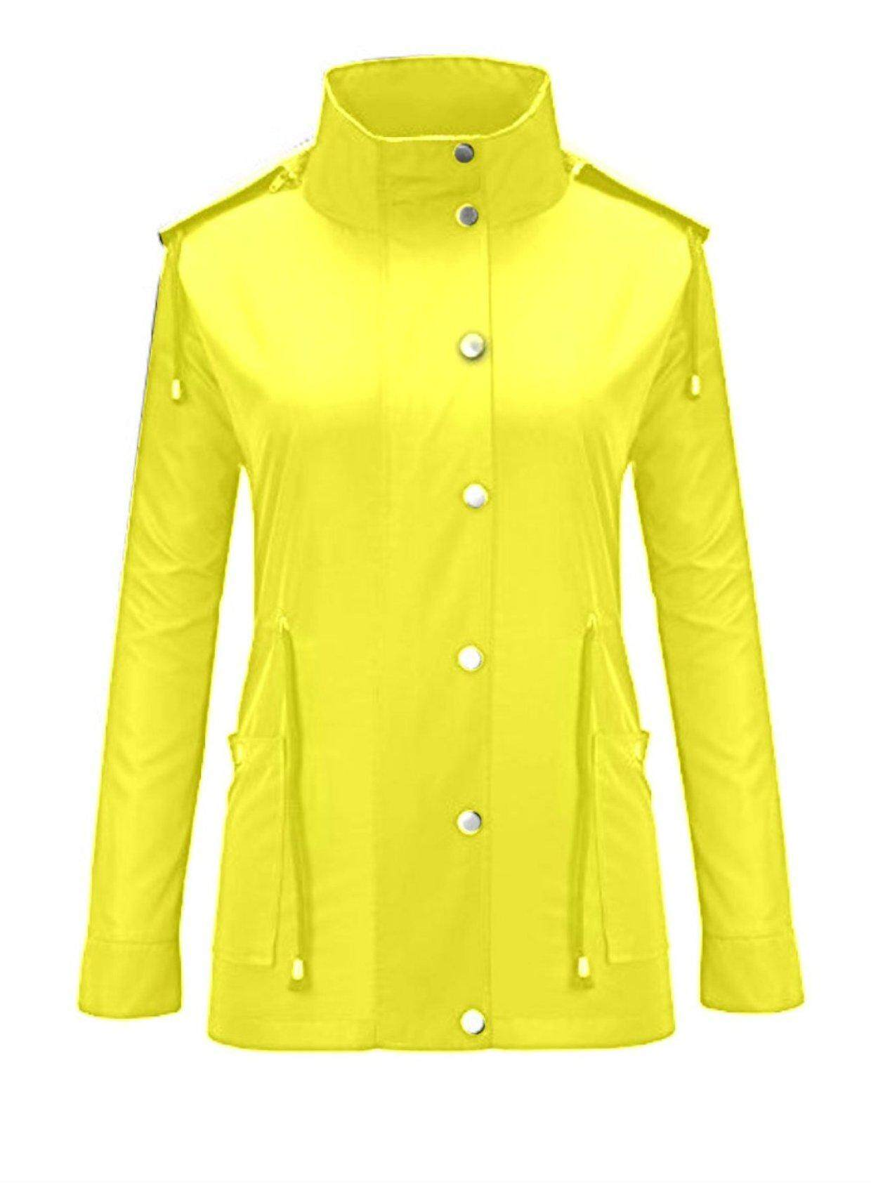 CELE Women Waterproof Hoodies Quick-drying Long Sleeve Outdoor Raincoat Lightweight