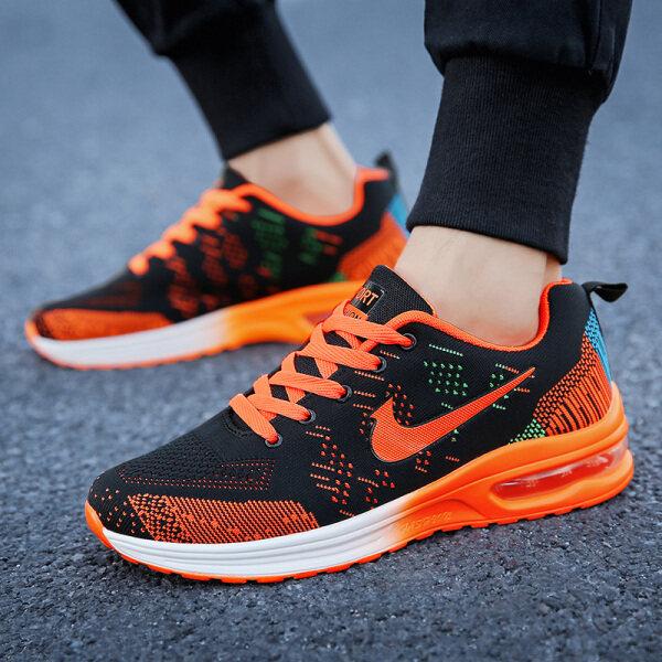Giày thể thao nam chất vải lưới thoáng khí + đế cao su chống trơn trượt êm chân phong cách Hàn Quốc năng động trẻ trung - INTL