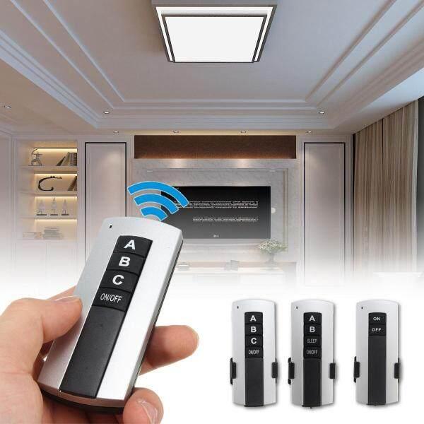3 Ways ON/OFF 220V Wireless Remote Control Switch Digital Remote Control Switch for Lamp & Light