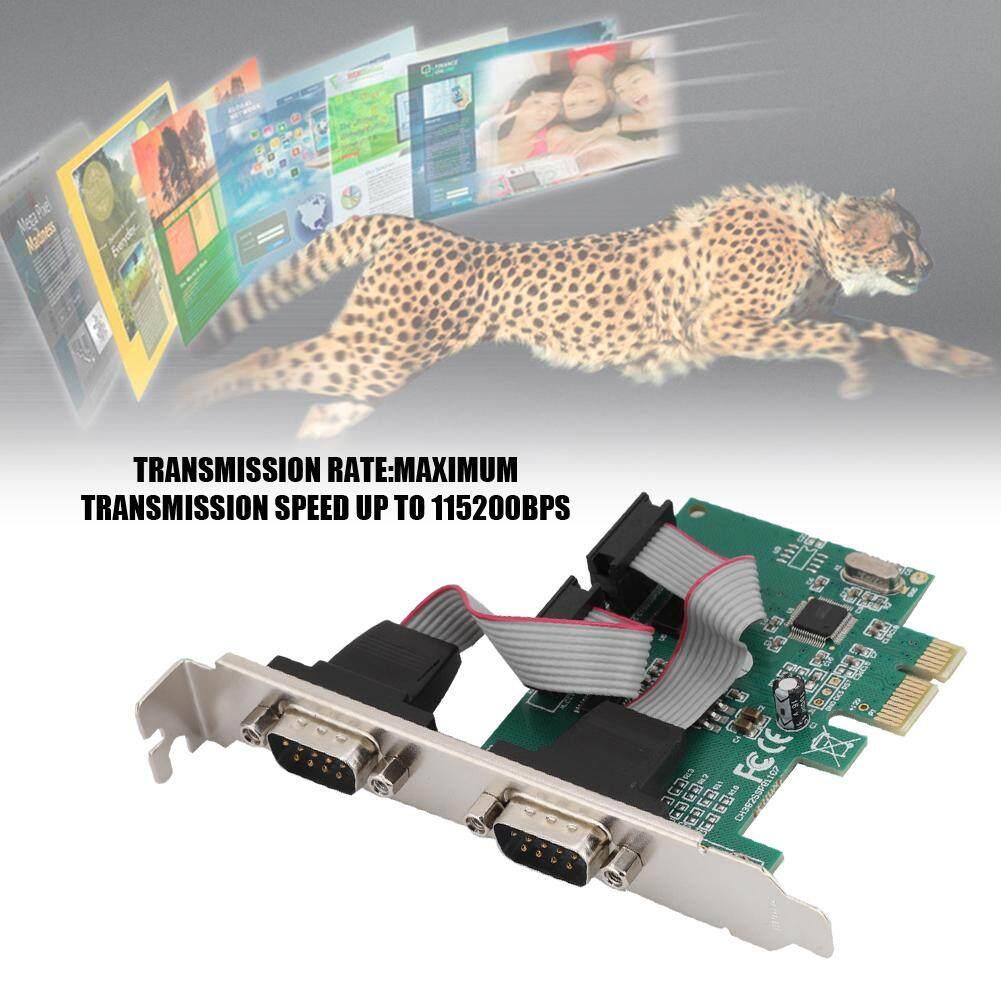 Giá Googoo 2 Cổng 2 * RS-232 Cổng Nối Tiếp COM Sang PCI-E Card PCI Express Adapter Chuyển Đổi