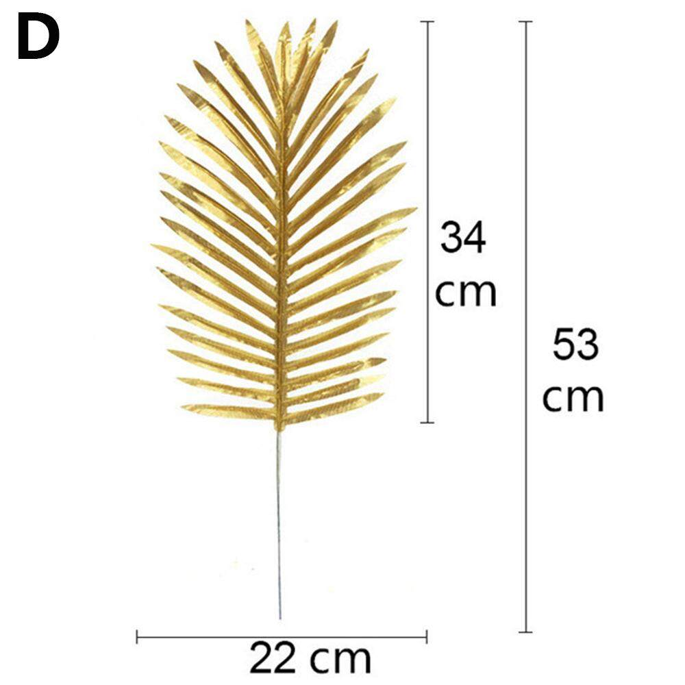 Leaf Tropical Palm Leaves Hawaiian Party Decoration Artificial Gold Silk Plant