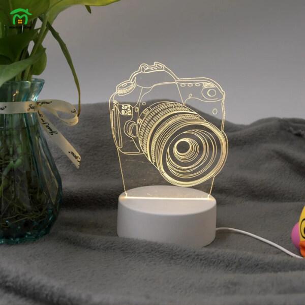 Bảng giá FEIGUO Mặt Dây Đèn Ngủ 3D USB Acrylic LED Bảng Bàn Đèn Để Bàn Trang Trí Phòng Ngủ, Đèn Trắng Ấm