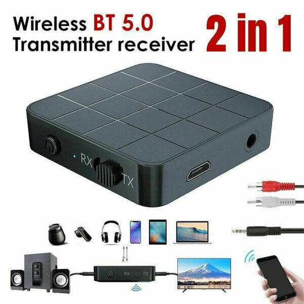 Original Bluetooth 5.0 4.2 Audio Receiver Transmitter 2 IN 1 RCA 3.5MM AUX Music Stereo Wireless Adapters