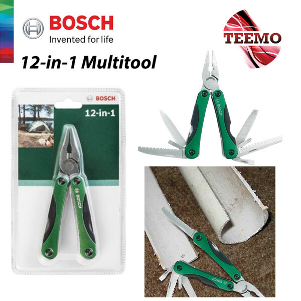 TEEMO BOSCH Multifunctional 12-in-1 Multitool Knive Saw Opener Screwdriver Wire Cutter - 2609256D91 - Fulfilled by TEEMO SHOP