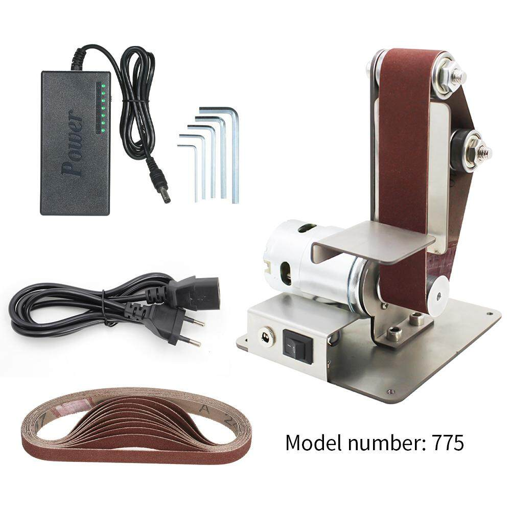 Vertical Sand-belt Machine, Mini Sand-belt Machine, DIY Polishing and Polishing Machine, Fixed-angle Sharpener Table Edge Machine EU Plug