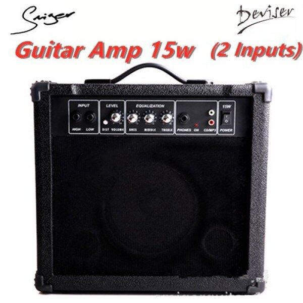 Smiger Deviser Electric Guitar Amplifier 15W With 2 Input Dist Malaysia