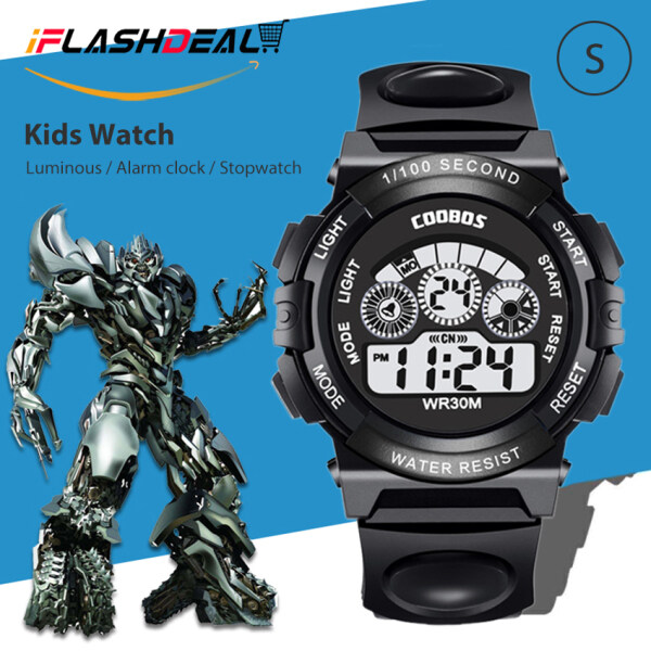 【Promotion-Lowest Price】iFlashDeal Sport Watch Children LED Digital Watches Kids Fashion Wristwatches Multifunction 30m Waterproof Luminous Sports Wrist Watch for Kids Boys Girls Gifts Malaysia