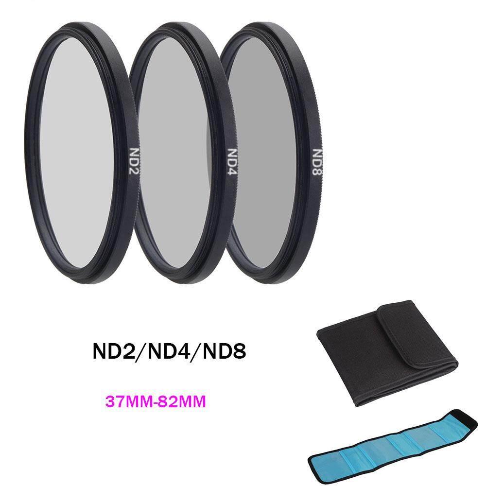 ND Filter Densitas Netral ND2 ND4 ND8 Filtors 37 52 58 62 67 72 77 82 Mm Fotografi untuk Canon Nikon Kamera Sony