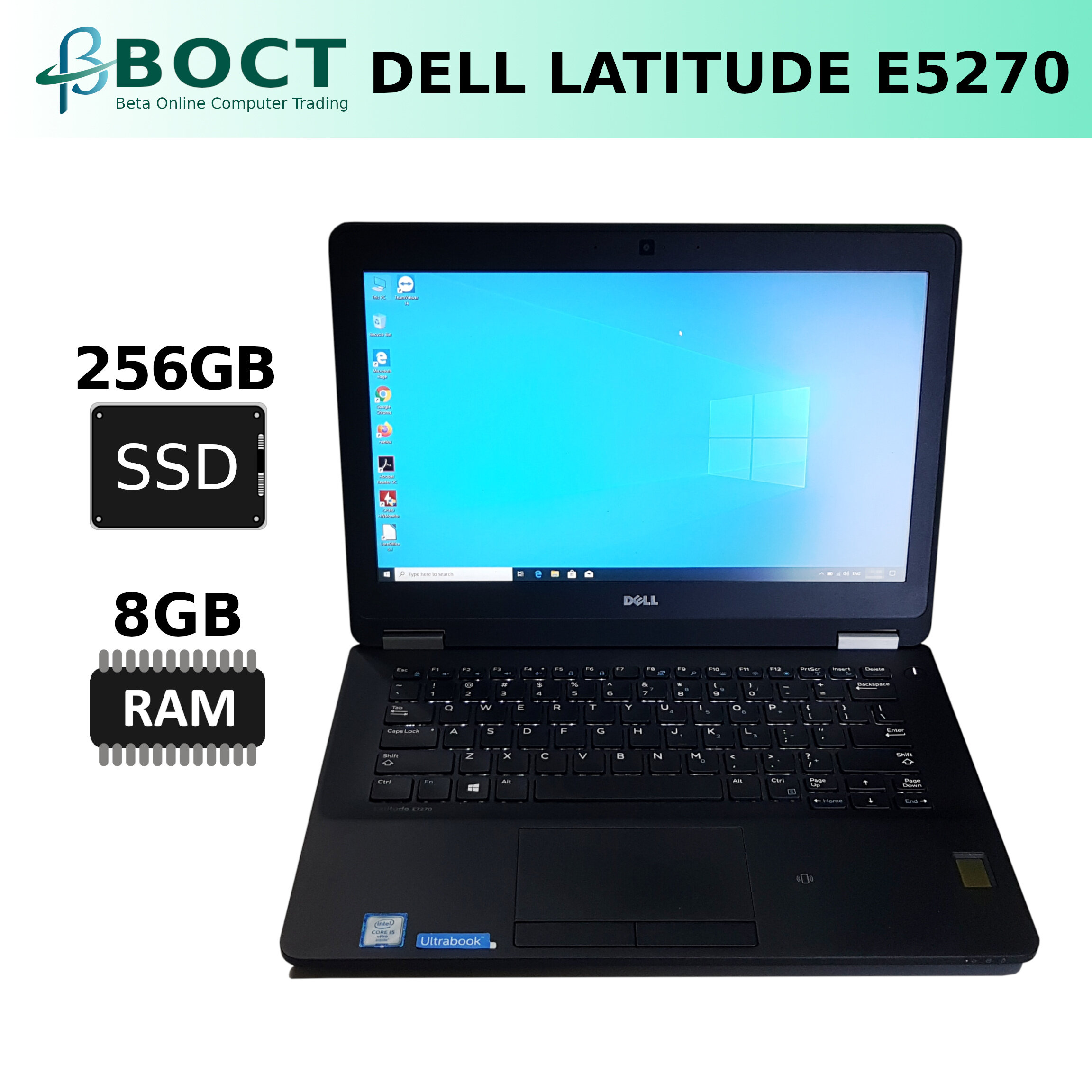 Dell Latitude E5270 / Intel Core i5 6th Gen / 12.5-inch HD screen / Windows 10 Pro (Refurbished) Malaysia