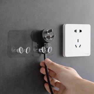 Houseeker Clear Wall Lưu Trữ Móc Phích Cắm Điện Móc Gắn Chìa Vặn Trang Chủ Phụ Kiện Phòng Tắm thumbnail
