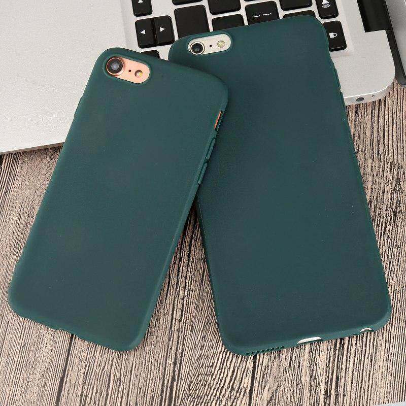 81d9739b22c Candy Green Color Phone Case For Iphone 5 5S Se 6 6s 7 8 Plus XS