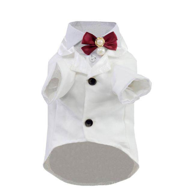 cute Tuxedo Style Pet Dogs Suit Coat Free Ship Small Puppy Dogs Clothes Wh/l By Sweet House Shop.
