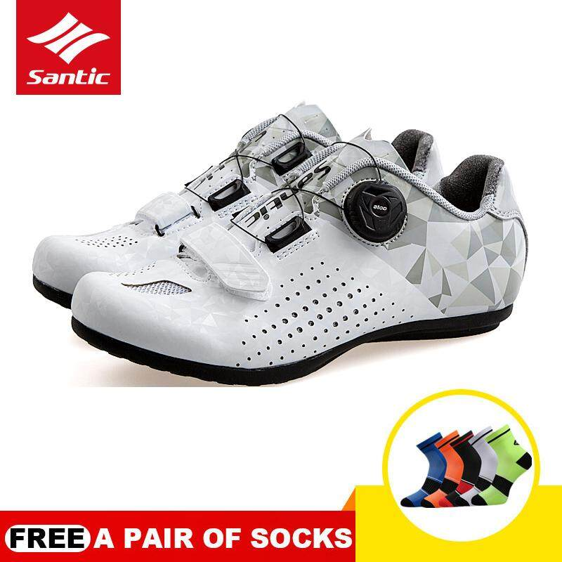Santic Pro Women Cycling Shoes Unlocked Breathable Rubber Outsole Casual Road Riding Bike Bicycle Shoes Ls18008 By Santic Outdoor Co. Ltd..