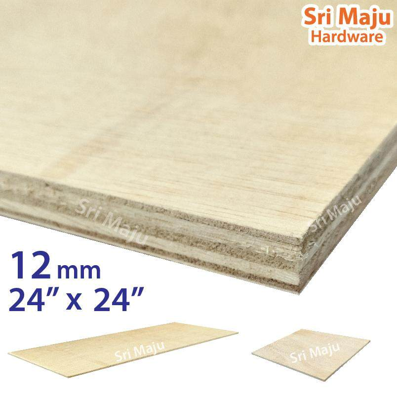 MAJU (2ft x 2ft) 12mm Plywood Timber Panel Wood Board Sheet Ply Wood Papan Kayu Perabot