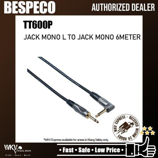 Bespeco Titanium Tech TT600P High Quality Noiseless Audio 20 ft (1/4 to right angle 1/4 metal jacks) Guitar Jack Malaysia