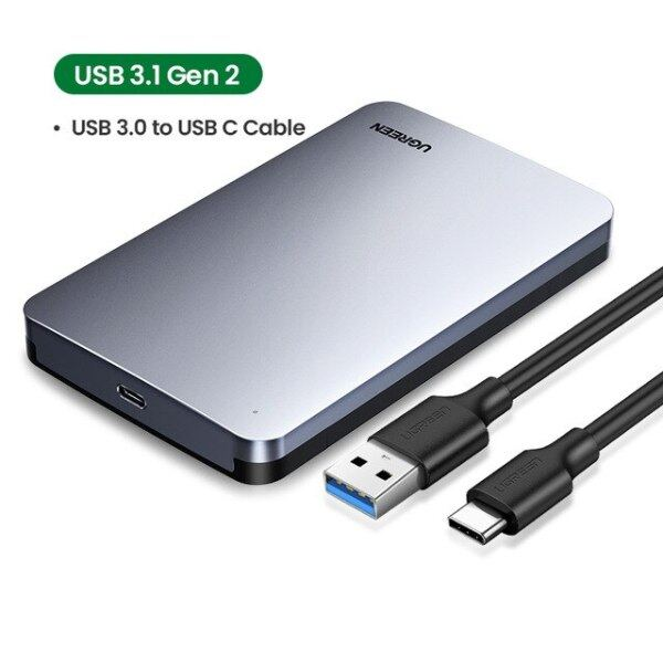 Bảng giá HDD Trường Hợp Hộp Ổ Cứng Gắn Ngoài 2.5 6Gbps SATA Sang USB C 3.1 Gen 2 Nhôm Trường Hợp, HD Cho Ổ Cứng Sata SSD HDD Bao Vây Phong Vũ