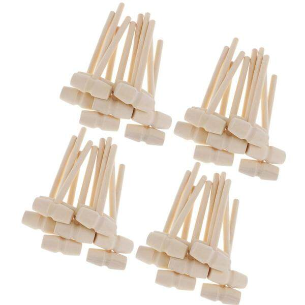 Fenteer 40 Sets Seafood Lobster Crab Mallets Natural Wooden Hammer Kids Toys Craft Small Wooden Hammer for DIY Leather Craft Projects