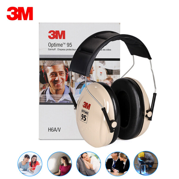 3M H6A Protective Earmuffs Noise Reduction Soundproof Ear Muffs NRR 21dB /SNR 27dB For Study Sleeping Work