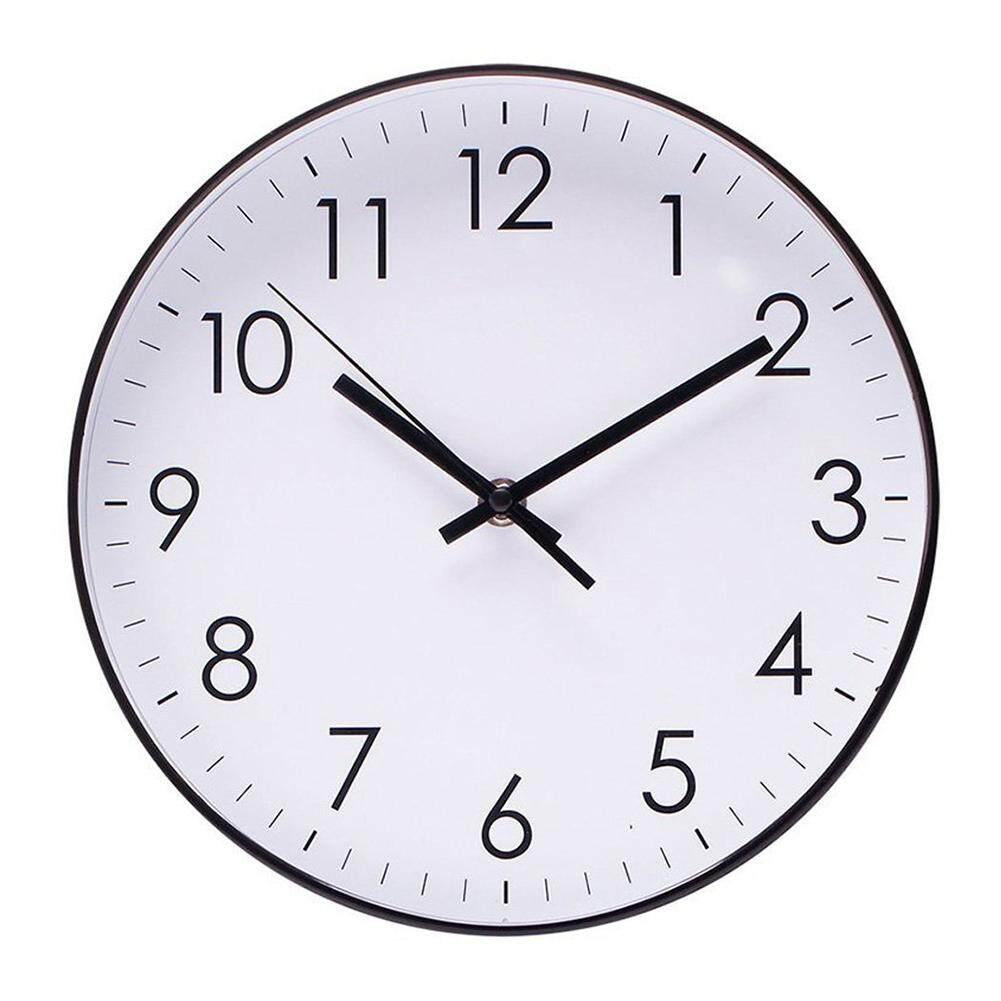 VIP Indoor Bedroom Living Room Round Silent Sweep Quartz Wall Clock Hanging Decor