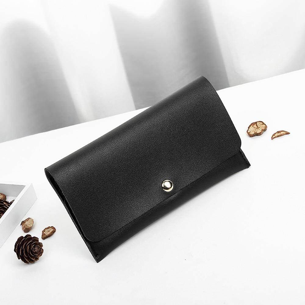 แฟชั่นผู้หญิง Lichee รูปแบบแผนที่ถุงใส่เหรียญกระเป๋าโทรศัพท์สีดำ By Sykesshop.