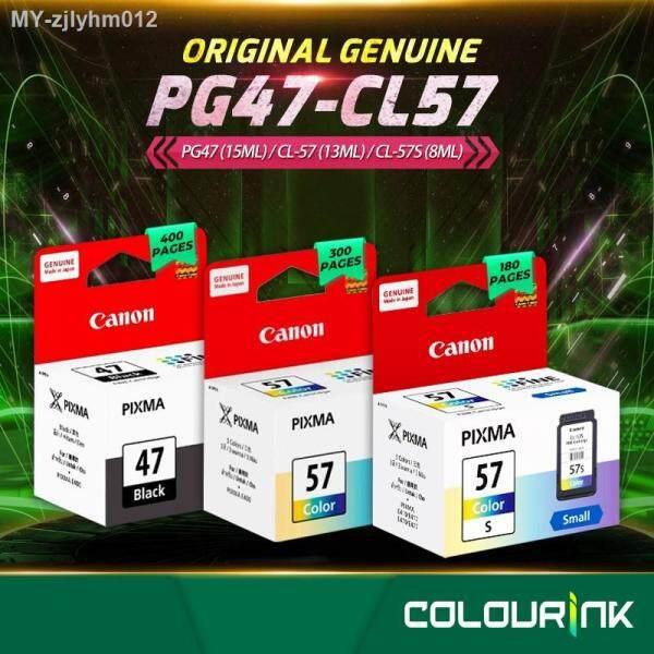 Canon Original Genuine PG-47 - CL-57 - CL-57S Ink Cartridge E400 E410 E460 E470 E480 E3170 E4270  PG47 CL57 Malaysia